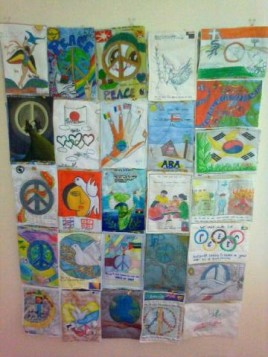Section of International Peace Quilt 2012