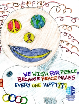 Netherlands Antilles International Peace drawing ISC