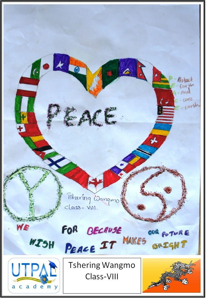 Peaceful World Drawings World Peace The Ninth Drawing