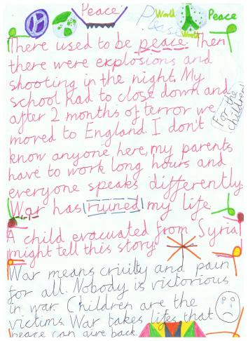 Syria Poem by Eleanor Galley Hill School UK