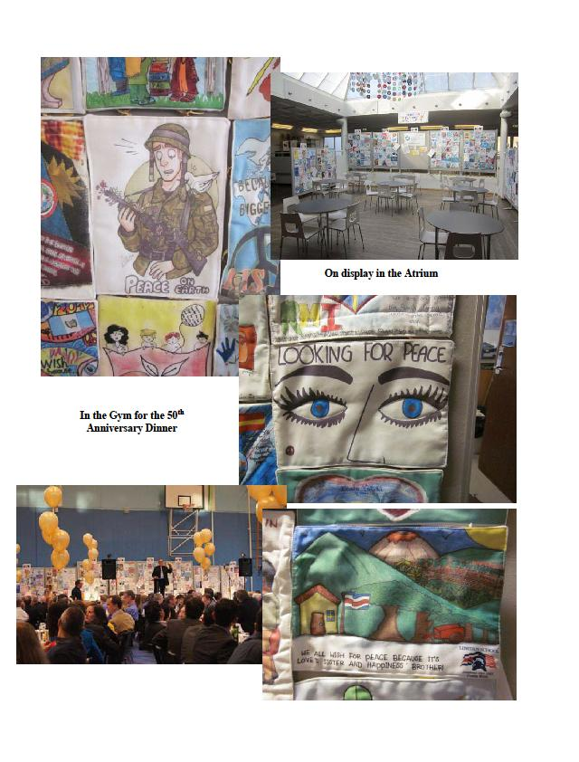 The Peace Quilt visits CIS for our 50th Anniversary Celebration! (4/6)