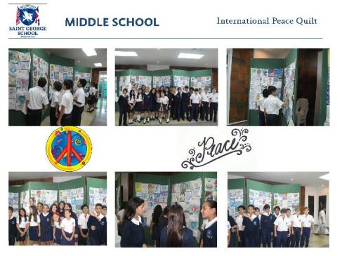 The 2012 Quilt display at the St. George School, Dominican Republic
