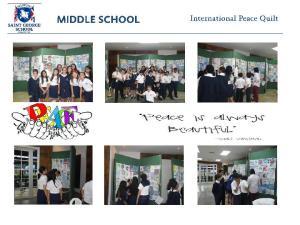 Saint George School Quilt  visit