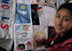 Argentina Carla Palermo with the Quilt