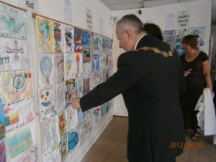 Stone Space Gallery Display, Leytonstone for London 2012