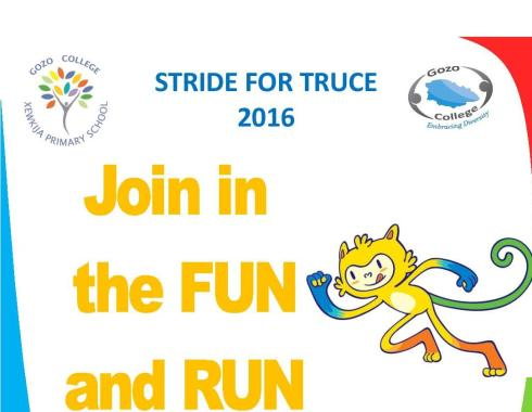 Stride for truce school poster